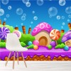 Cartoon Candy Land Fairytale & Fantasy Wall Mural kids Photo Wallpaper