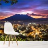 Volcano At Dusk Mount Sakurajima Japan Wall Mural Landscape Photo Wallpaper