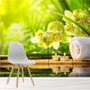 Bamboo, Candles & Orchids Tranquil Spa Wall Mural Floral Photo Wallpaper