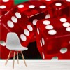 Red Dice Vegas Casino Wall Mural Games & Hobbies Photo Wallpaper