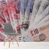 Money, Bank Pound Notes, £ Travel Wall Mural UK Currency Photo Wallpaper
