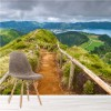 Panoramic View Of Mountain Path Portugal Scenic Wall Mural Photo Wallpaper