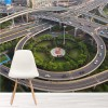 City Viaduct, China Aerial View Transport Wall Mural Bridge Photo Wallpaper