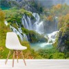 Waterfall Piltvic Lakes, Croatia Landscape Wall Mural Water Photo Wallpaper