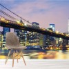 Dusk Over Brooklyn New York City Skyline Wall Mural Landscape Photo Wallpaper
