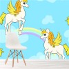 Pegasus Flying Through Rainbows & Clouds Fantasy Wall Mural kids Photo Wallpaper