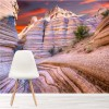 Sunset Over Tent Rocks Canyon Mountain Art Wall Mural Landscape Photo Wallpaper