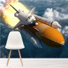 Rocket Launches Through Clouds Into Space Wall Mural Science Photo Wallpaper