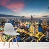 Sunset Over Bangkok Thailand, Asia City Skyline Wall Mural Photo Wallpaper