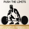 Push The Limits Weightlifter Bodybuilding Wall Stickers Sports Gym Art Decals