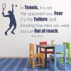Andy Murray - Quote Tennis Player Tennis Wall Stickers Sports Decor Art Decals