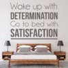 Determination & Satisfaction Inspirational Quotes Wall Sticker Home Art Decals