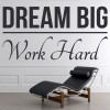 Dream Big Work Hard Inspirational Quotes Wall Sticker Home Art Decals Decor
