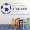 Football Is Life & Death Inspirational Quotes Wall Sticker Sports Art Decals