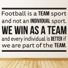 We Win As A Team Football Quotes Wall Sticker Sports Art Decals Decor