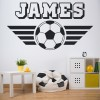 Personalised Name Football Wall Sticker Sports Art Decals Decor