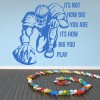 How Big You Play American Football Sports Quotes Wall Sticker Home Art Decals