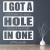 Hole in one Sports Quotes Wall Sticker Sports Art Decals Decor