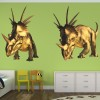 Triceratops Dinosaurs Wall Sticker Boys Room Jurassic Decal Kids Bedroom Decor