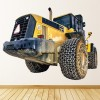 Yellow Tractor Wall Sticker Construction Vehicle Wall Decal Kids Bedroom Decor