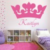 Personalised Crown Wall Sticker Princess Crown Wall Decal Girls Bedroom Decor