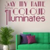 Say My Name Florence and the Machine Song Lyrics Wall Sticker Home Art Decal