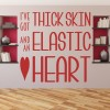 Thick Skin Elastic Heart Sia Song Lyrics Wall Sticker Home Art Decals Decor