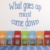 Isaac Newton What Goes Up Must Go Down Quote Wall Stickers Home Decor Art Decals