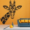 Tribal Giraffe Portrait African Animals Colour Wall Stickers Home Art Decals