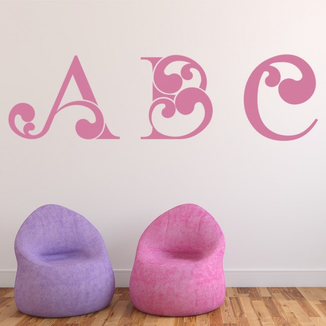 abc letters wall stickers educational wall art