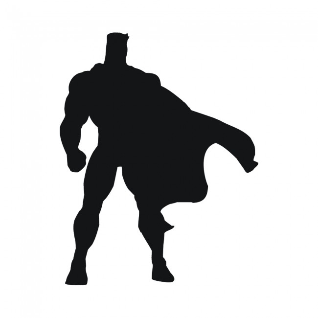 Superhero Cape Silhouette Superheroes Wall Stickers Childrens Decor Art Decals