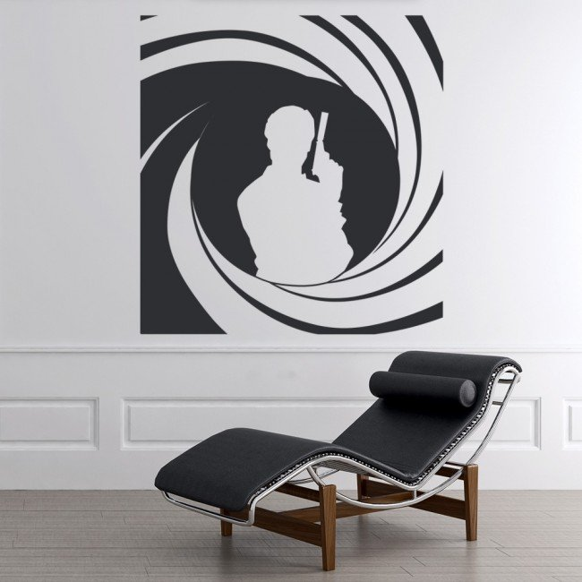 James bond 007 wall stickers icon wall art for Decor 007