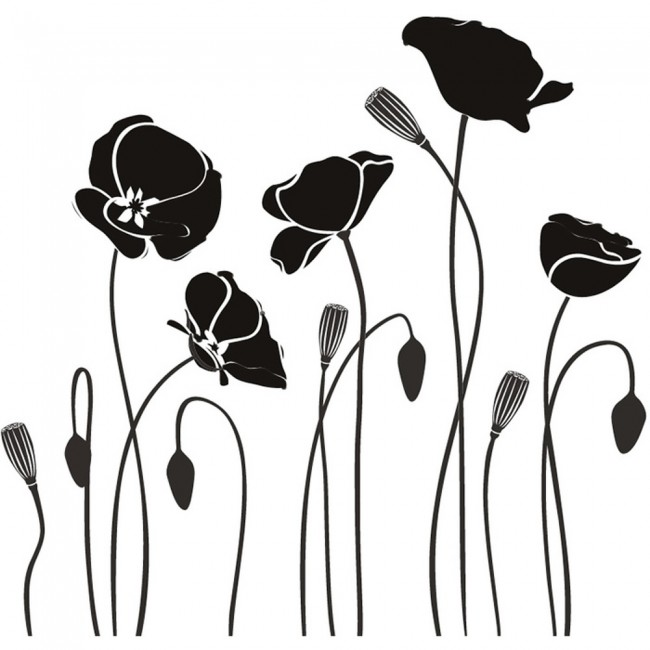 poppy flowers wall sticker flowers wall art boxing logos and drawings boxing logo maker
