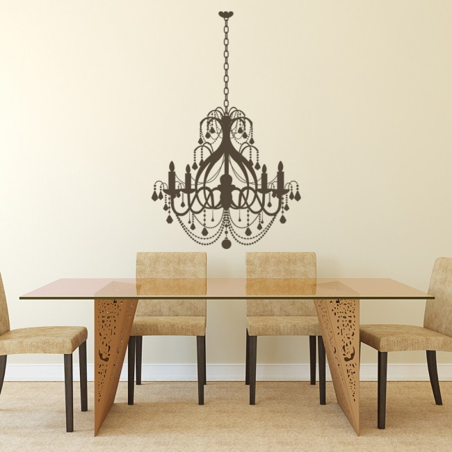 grand chandelier dining room wall stickers home