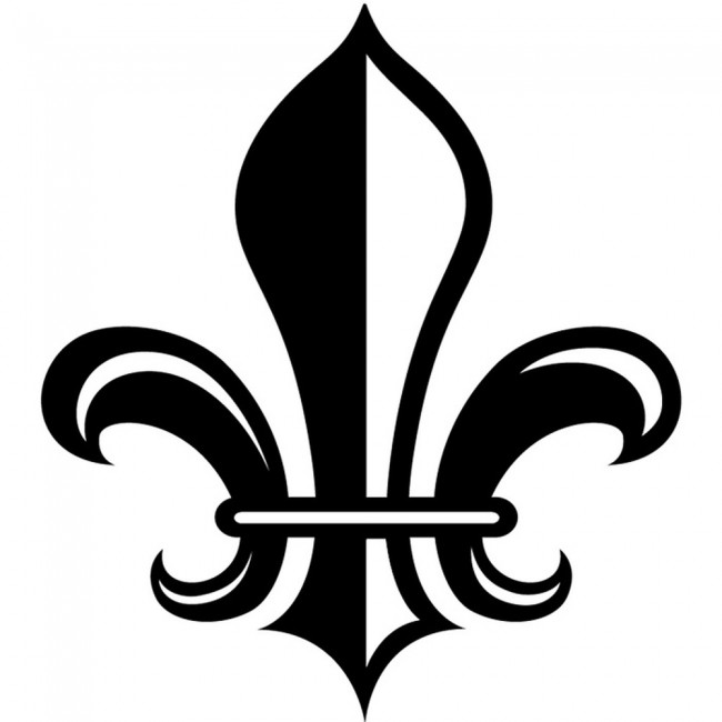 bold fleur de lis wall stickers decorative wall art personalised name wall sticker fleur de lis wall decal