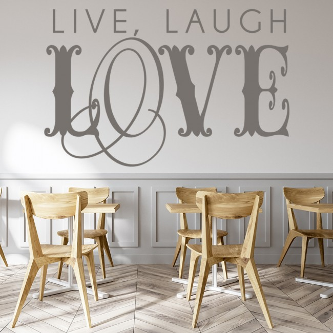 Live laugh love wall stickers love wall art for Live laugh love wall art