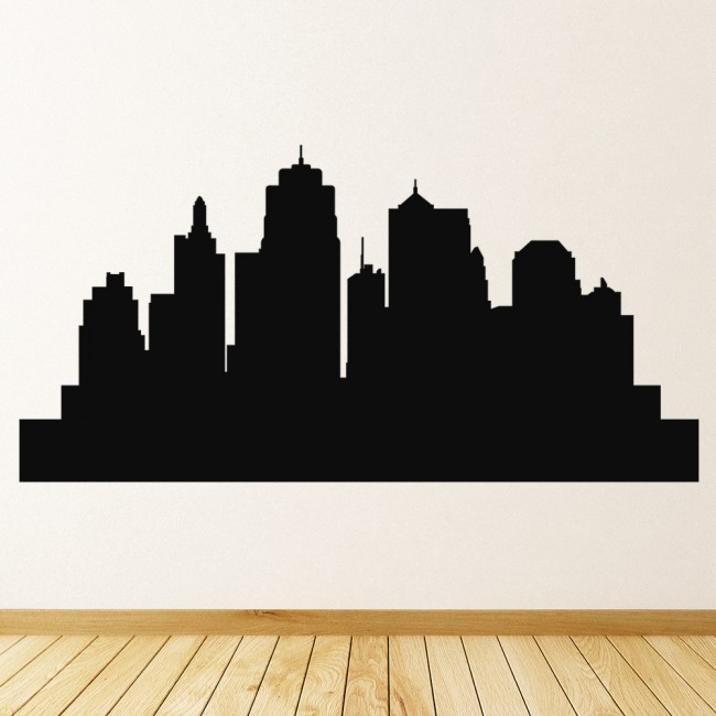 city skyline wall stickers skyline wall art wsd5 city skyline silhouette removable wall sticker