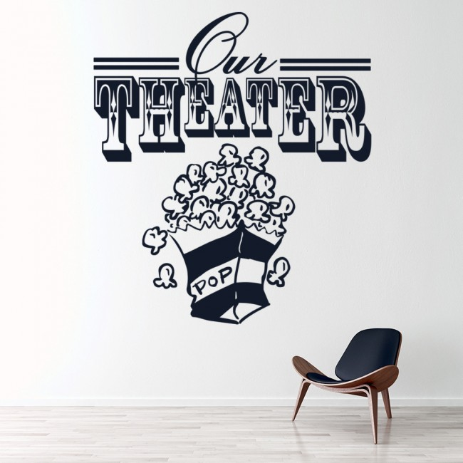 Our Theater Wall Sticker Home Wall Art