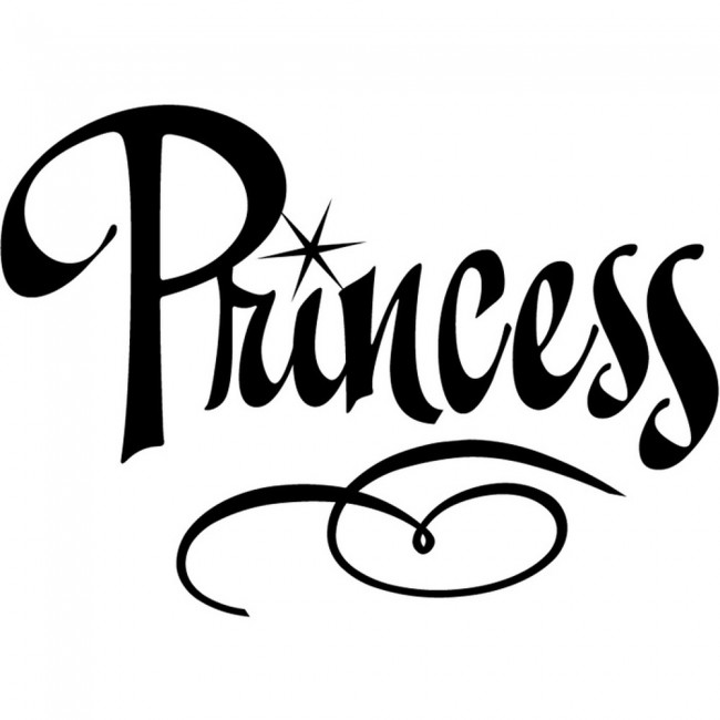 Princess Text Wall Sticker Girl S Bedroom Wall Art