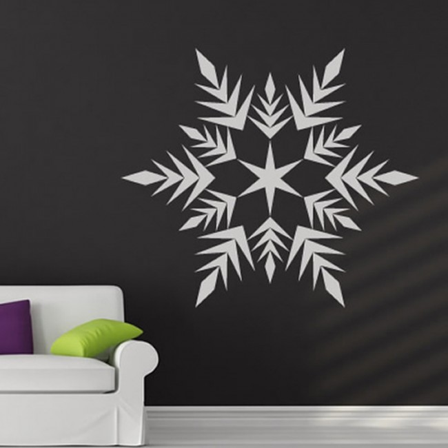 arrowed snowflake wall sticker christmas wall art. Black Bedroom Furniture Sets. Home Design Ideas