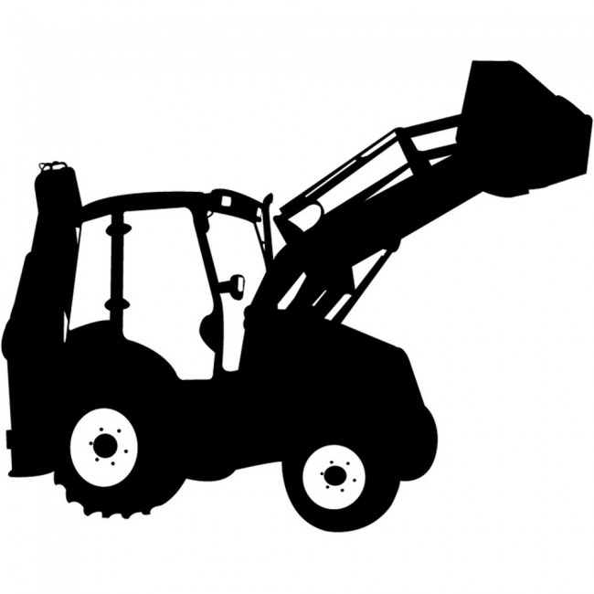jcb digger industrial machines wall stickers construction jcb wall stickers wall stickers for kids