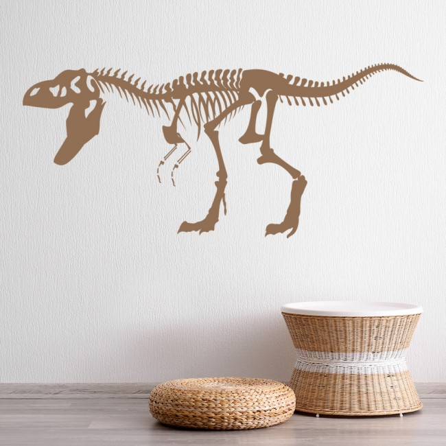 T rex shadowed skeleton dinosaur wall sticker childrens for T rex bedroom decor