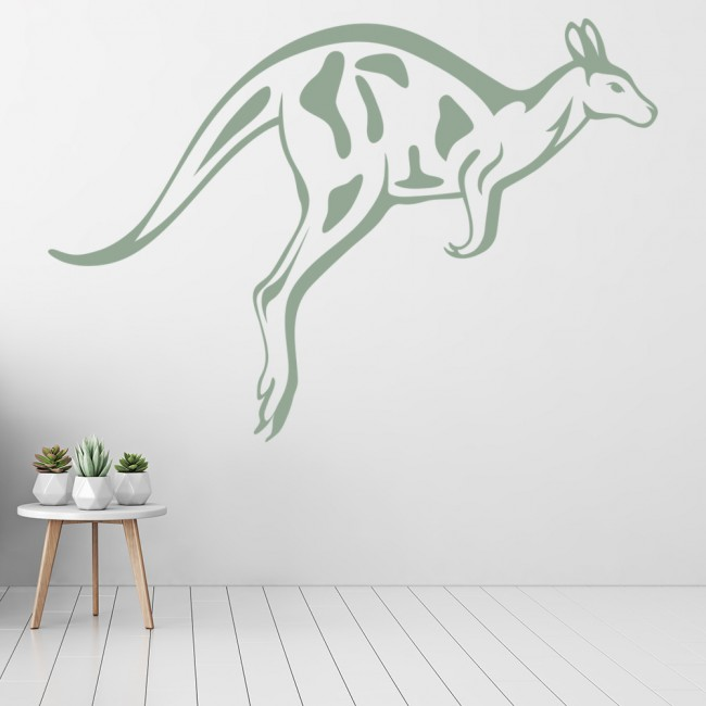 Jumping kangaroo australian wild animals wall stickers home decor art decals Home decor wall decor australia