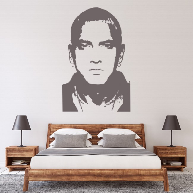 Eminem rapper music icons celebrities wall stickers home for Eminem wall mural