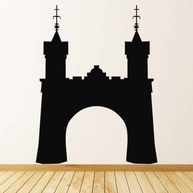 Castle wall stickers halloween wall art for Castle wall mural sticker