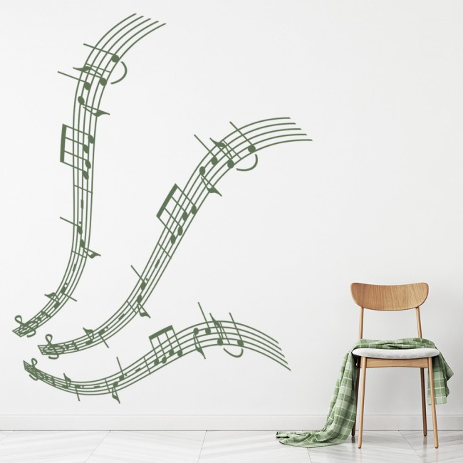 musical notes wall stickers music wall art jjrui wall stickers vinyl decal electronic music
