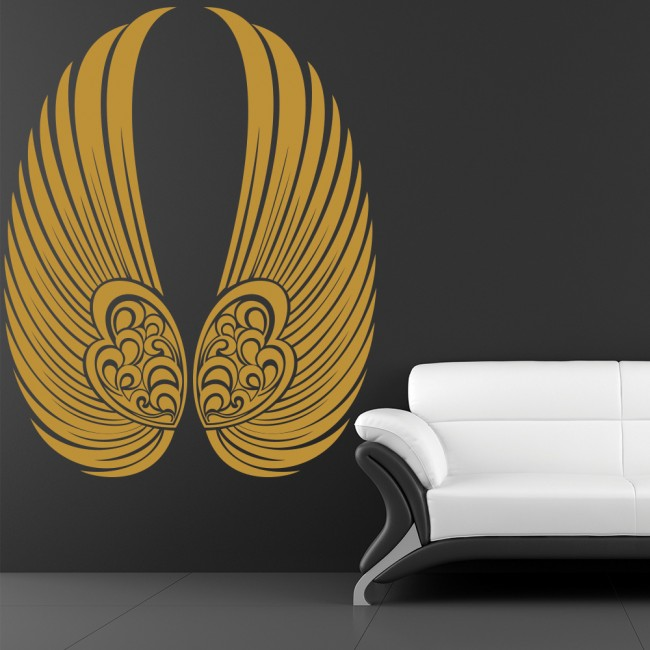 Angel wall art scunthorpe angel wings wall stickers for Angel wings wall decoration uk