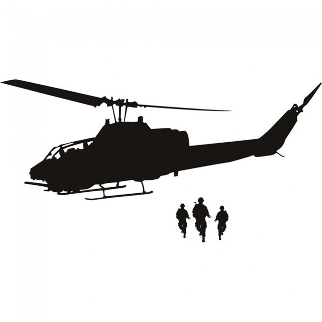 army helicopter wall stickers army wall art