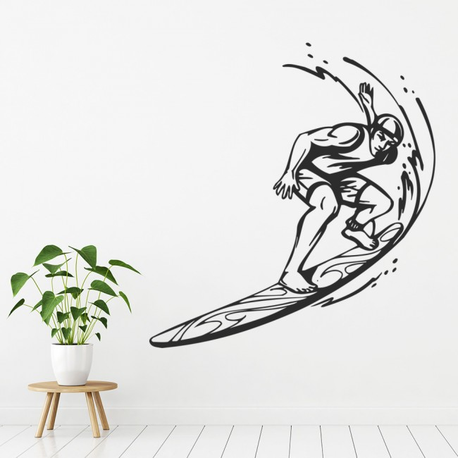 surfing wall sticker sport wall art