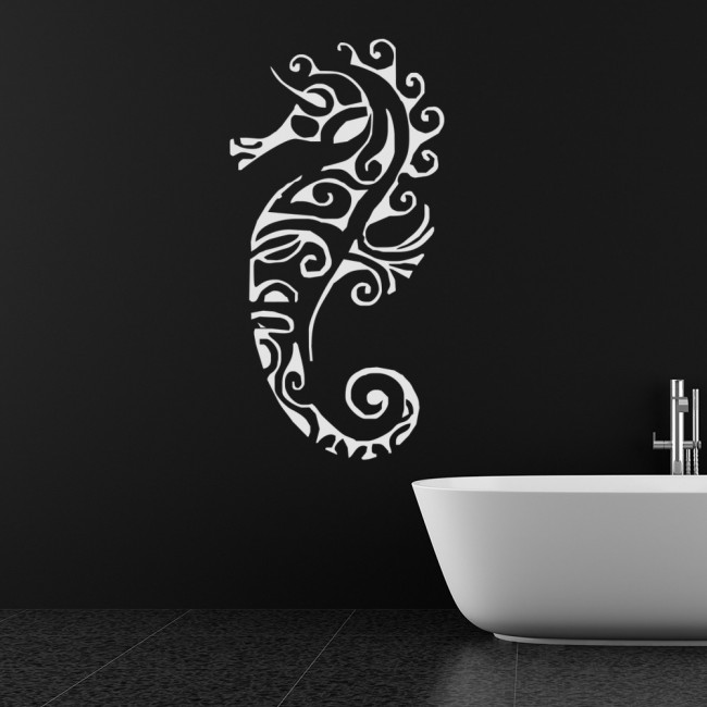 Bathroom Sea Wall Decor : Seahorse decorative pattern under the sea wall sticker